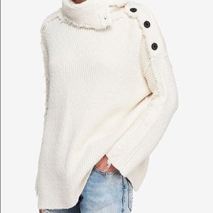NWT Ivory Free People On My Side Pullover Sweater